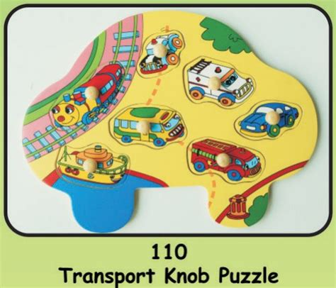 Wooden Knob Puzzles by Wooden Knob Puzzle Quot Transport Quot Educational Toys
