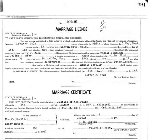 Fred bruneau marriage license