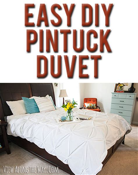 how to make a comforter tutorial how to make a diy pintuck duvet cover