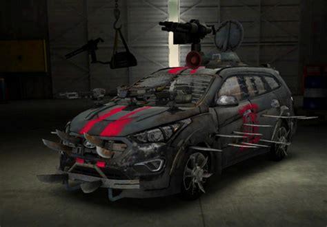 survival car hyundai sante fe zombie survival machine motoring middle