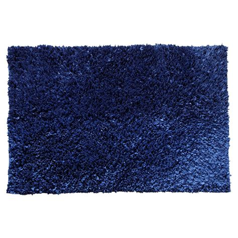 chesapeake rugs chesapeake merchandising comfy shag navy 5 ft x 7 ft area rug 79103 the home depot