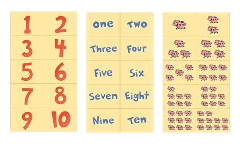 printable flash cards of numbers number flash cards printable 1 10 free preschool printables