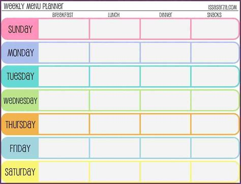 weekly schedule template for template weekly schedule template weekly