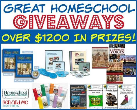 Homeschool Giveaway - huge homeschool giveaway over 1200 in prizes