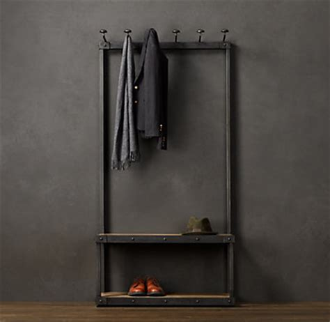 coat and shoe rack with bench coat rack bench 3