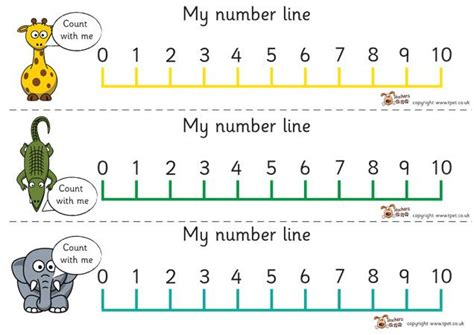 printable number line pictures teacher s pet displays 187 0 10 number line wild animals