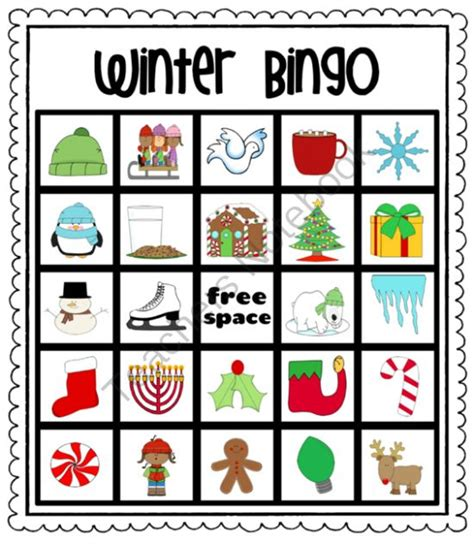 Winter Bingo Card Template by Pin By Debbie Francis On Kindergarten