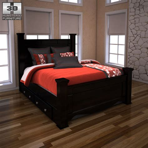 shay bedroom set ashley shay poster bedroom set 3d model humster3d