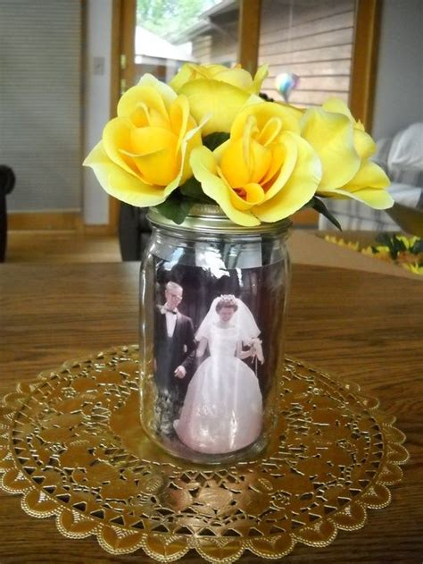 anniversary table decorations  grandparents