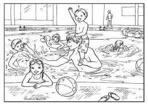 Swimming Pool Colouring Page Swimming Pool Coloring Pages