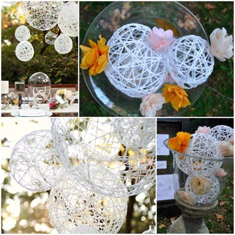 wedding reception decoration diy easy peasy diy string spheres one stylish