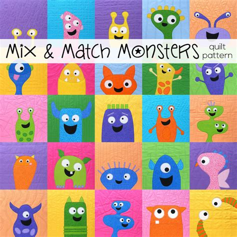 pattern matching for toddlers cute quilt as you go applique monsters video class