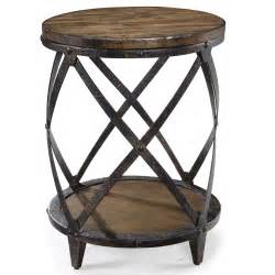Accent End Table Pinebrook Accent End Table With Rustic Iron Legs By Magnussen Home Wolf Furniture