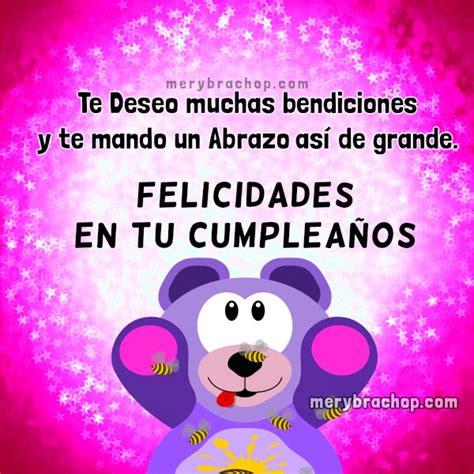 imagenes feliz cumpleaños mi niña mensaje de cumplea 241 os bendiciones para una linda ni 241 a