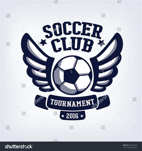 Soccer Club Emblem College League Logo Stock Vector 294382520 Shutterstock Soccer Design Template
