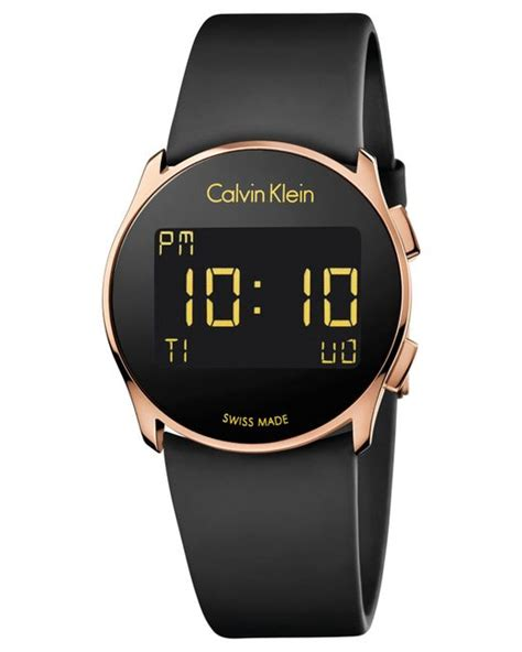 Ck Ck090 Rosegold Black 1 calvin klein s swiss digital future black rubber 39mm k5b236d1 in pink black