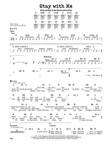 blackpink chord stay with me by rod stewart guitar lead sheet guitar