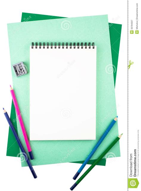 Paper Materials - notebook on sheets of colored textured paper imitating a