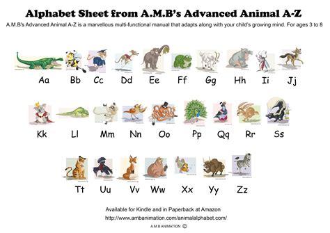 printable animal information sheets animal alphabet a z learning sheet