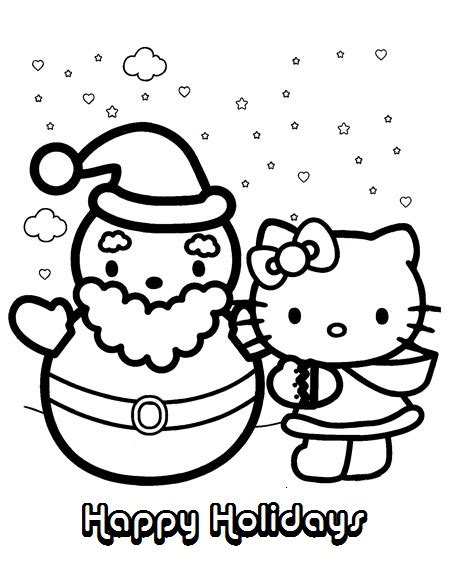 hello kitty fall coloring page hello kitty christmas and winter coloring pages of happy