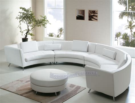 Modern Line Furniture Commercial Furniture Custom Made White Curved Sofa