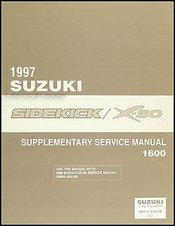 1997 suzuki sidekick sport 1800 repair shop manual supplement original