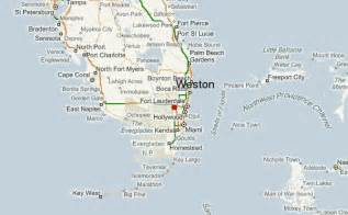 Map Of Weston Florida by Weston Location Guide