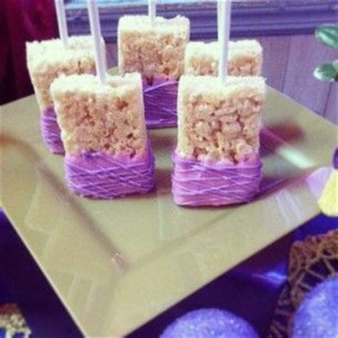 lavender new year goodies rice treats and purple on