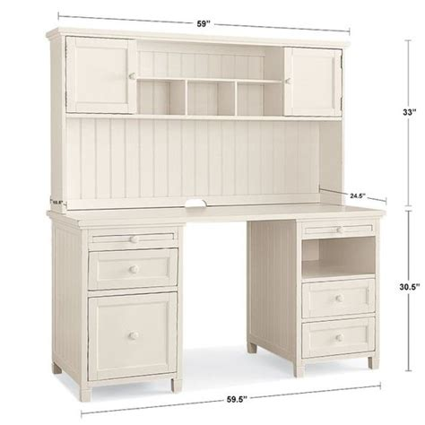 Beadboard Smart Desk Hutch Desks Products And Desk Hutch White Beadboard Desk