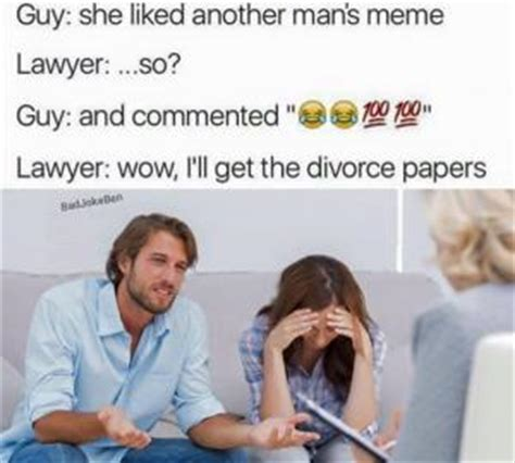 Divorce Guy Meme - lawyer humor kappit