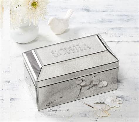 Wedding Jewellery Box by Lhuillier Mirrored Jewelry Box Pottery Barn