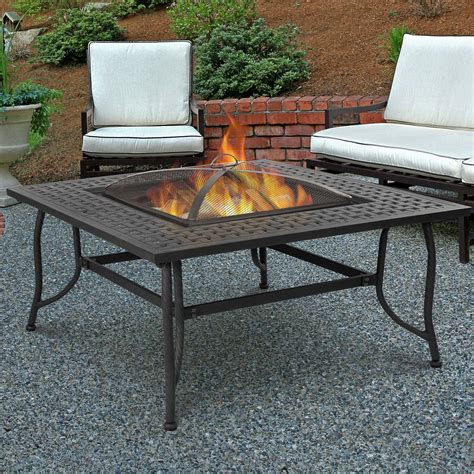 real chelsea wood burning pit table reviews - Wood Pit Table