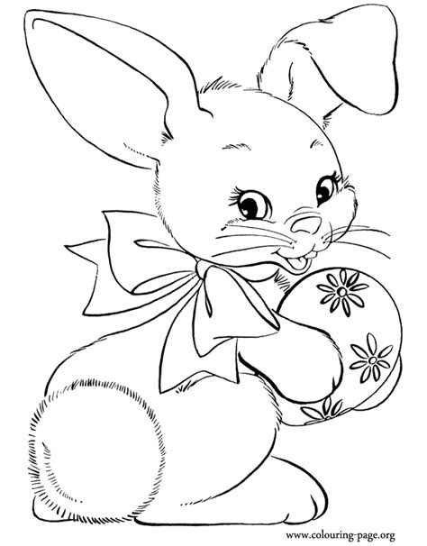 Coloring Page Rabbit by Bunny Rabbits Coloring Pages Coloring Home