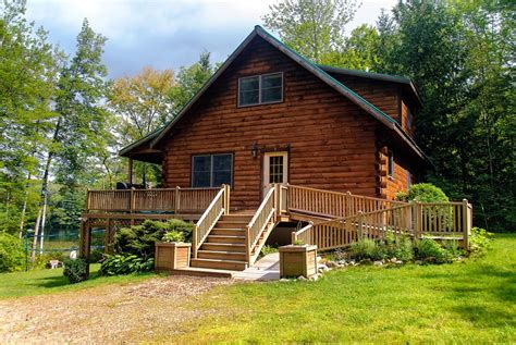 Cabins Maine by Maine Lakeside Log Cabin 3 Bd 2ba Tub Vrbo