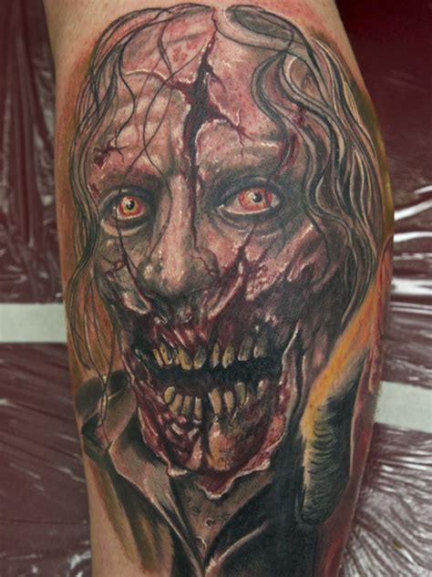 30 different zombie tattoos creativefan