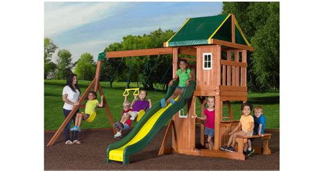 Backyard Discovery Oakmont Cedar Backyard Discovery Oakmont Cedar Wooden Swing Set Only 25