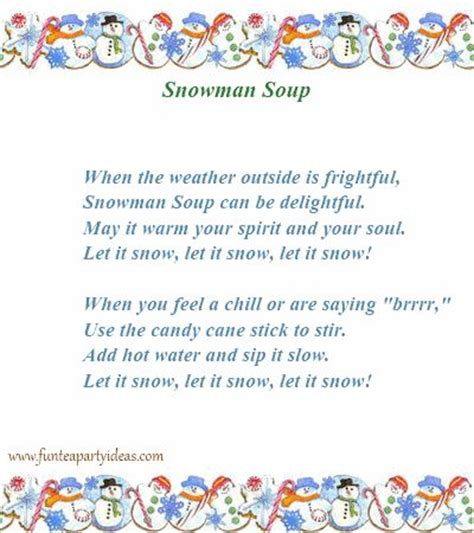 printable soup recipes search results for snowman soup recipe printable