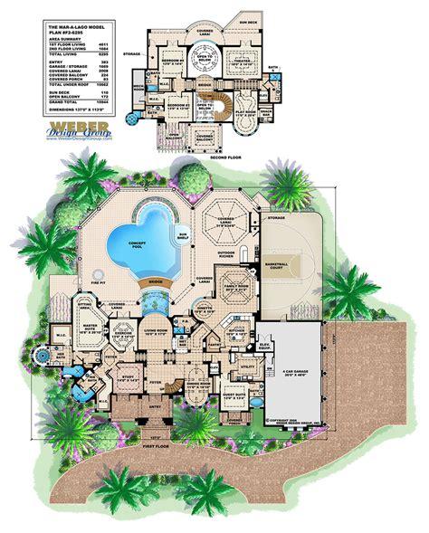 Villalago Home Design Luxury Mediterraniean House Plan 2 Story Waterfront