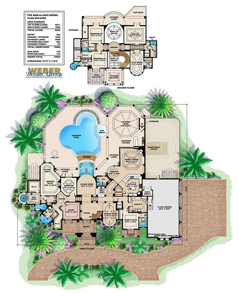 Garage Floor Plans With Bonus Room luxury mediterraniean house plan 2 story waterfront
