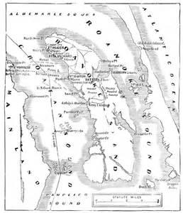roanoke carolina map battle of roanoke island