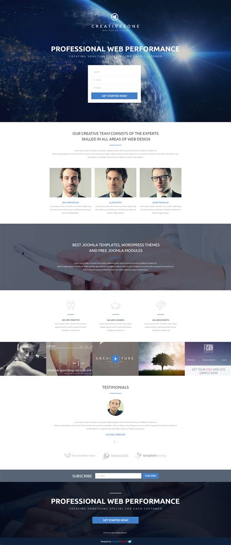 Studio Templates Free by Free Landing Page Template For Design Studio Free