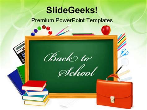 free education powerpoint template clipart best