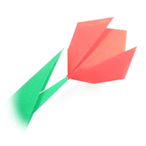 Easy Tulip Origami - how to make an easy origami tulip page 9