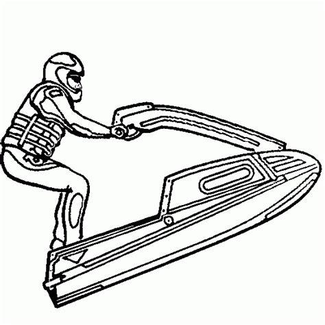 coloring pages of jet ski sport coloring waverunner jet ski sea doo coloring