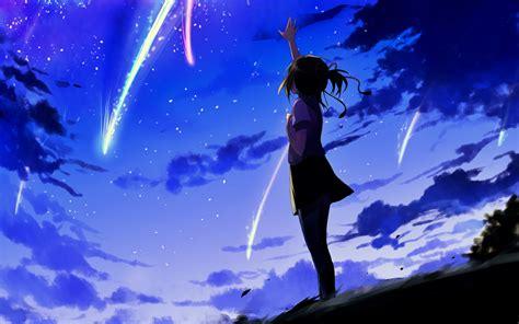 wallpaper hd kimi no nawa wallpaper kimi no nawa mitsuha miyamizu night sky