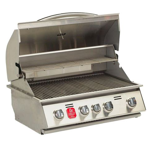 bullet 4 burner built in propane gas grill in stainless