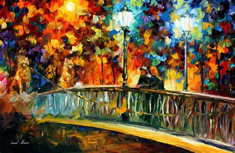 Painting Date by Leonid Afremov On Canvas Palette Knife Buy Original
