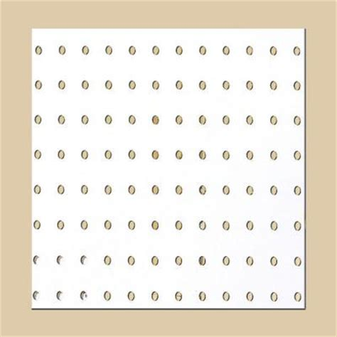pegboard white panel common 3 16 in x 4 ft x 8 ft