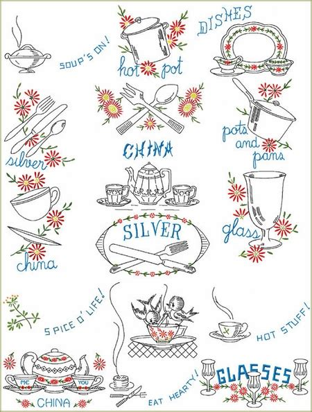 free kitchen embroidery designs daisy kitchen machine embroidery designs set