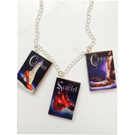 the lunar chronicles boxed handmade quot the lunar chronicles quot trilogy necklace lunar chronicles handmade